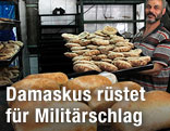 Brot in Bäckerei in Damaskus