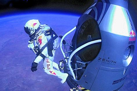 Stratosspärensprung von Felix Baumgartner