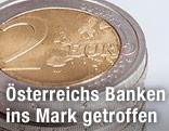 Stapel Euro-Münzen