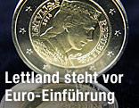 Lettische Euro-Münze