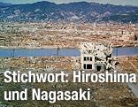 Archivaufnahme von Hiroshima nach dem Atombombenabwurf 1946