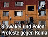 Roma-Siedlung in der Slowakei
