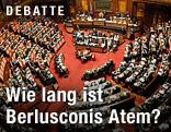 Innenaufnahme des italienischen Parlaments
