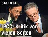 Michel Jarraud, Generalsekretär der World Meteorological Organization (WMO), und IPCC-Chef Rajendra Pachauri