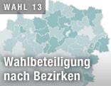 Wahlbeteiligung nach Bezirken