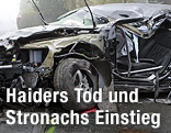 Jörg Haiders Auto nach seinem Unfall