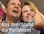 Neos-Spitzenkandidat Matthias Strolz im Freudentaumel