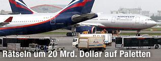 Flugzeuge auf Moskauer Flughafen