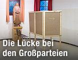 Wahlzelle in Wahllokal