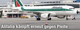 Flugzeug der Linie Alitalia