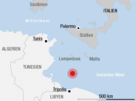 Italien Karte Lampedusa.Fluchtlingsboot Im Mittelmeer Gekentert News Orf At