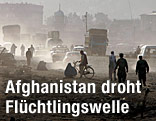 Strassenszene in einem Vorort Kabuls