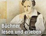 Zeichnung von Georg Büchner