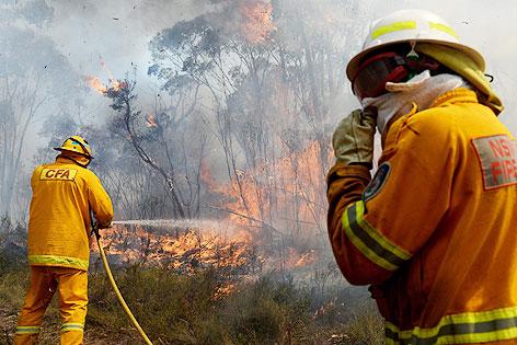 Feuerwehrmann der australischen Armee