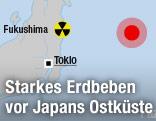 Karte der japanischen Ostküste