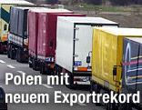 Meherer Lastwagen hintereinander