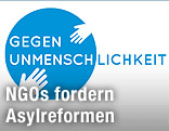 """Logo der Initiative """"Gegen Unmenschlichkeit"""""""
