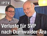 Stimmabgabe von Südtirols Landeshauptmann Luis Durnwalder