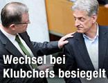 Die ehemaligen Klubchefs Karlheinz Kopf (ÖVP) und Josef Cap (SPÖ)