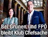 Grünen-Chefin Eva Glawischnig und  FPÖ-Obmann Heinz-Christian Strache