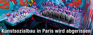 "Badezimmer im Turm-Street-Art-Projekt ""Paris Tour 13"""