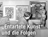 """Foto aus der Ausstellung """"Entartete Kunst"""""""