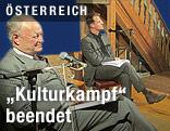 """Moderator Michael Fleischhacker (früherer Chefredakteur der """"Presse"""") und ÖVP-Spitzenpolitiker Andreas Khol"""