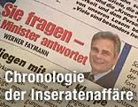Screenshot eines Faymann-Inserates in einer Zeitung