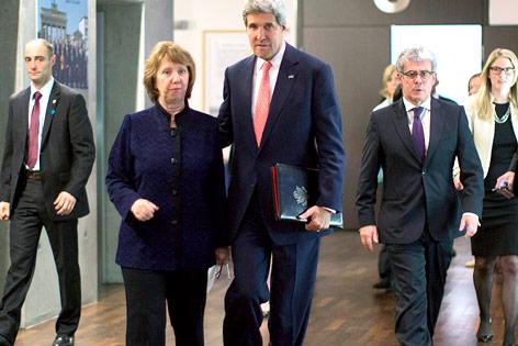 US-Außenminister John Kerry und EU-Außenbeauftragte Catherine Ashton