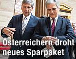 ÖVP-Chef Michael Spindelegger und Bundeskanzler Werner Faymann