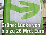Fahne mit Logo der Grünen