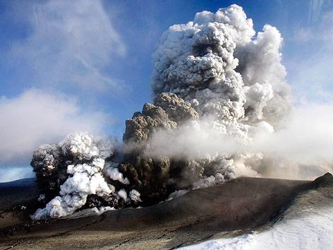 Vulkan Eyjafjallajökull in Island