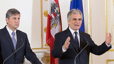 Bundeskanzler Werner Faymann und Vizekanzler Michael Spindelegger