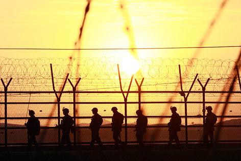 Südkoreanische Soldaten nahe der Grenze zu Nordkorea