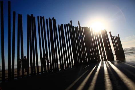 Grenzmauer zwischen Mexiko und den USA in Tijuana
