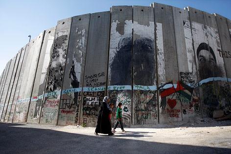 Israelische Betonmauer in Bethlehem