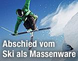 Sprung eines Skifahrers