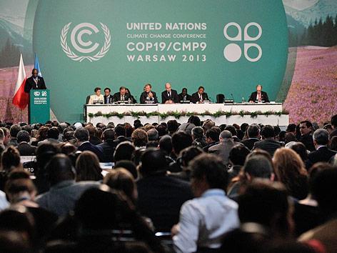 Teilnehmer am UNO-Weltklimagipfel von Warschau