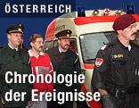 Der mutmaßliche Briefbombenattentäter Franz Fuchs bei der Überstellung