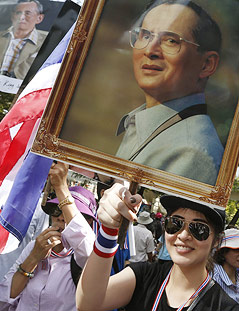 Porträt des Thailändischen Königs
