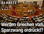 Parlamentssitzung in Athen