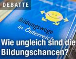 """Informationsheft mit der Aufschrift """"Bildungswege in Österreich"""""""