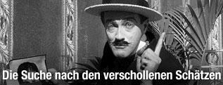 """Edgar Barrier in einer Szene des Stummfilms """"Too Much Johnson"""""""