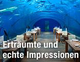 Das Ithaa Undersea Restaurant im Conrad Maldives