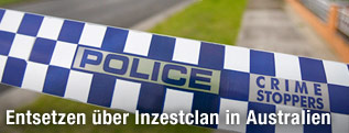 Absperrband der Polizei