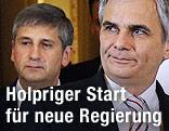 Werner Faymann (SPÖ) und Michael Spindelegger (ÖVP)