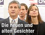 Michael Spindelegger, Sebastian Kurz und Sophie Karmasin
