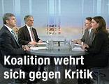 Werner Faymann und Michael Spindelegger in der Pressestunde