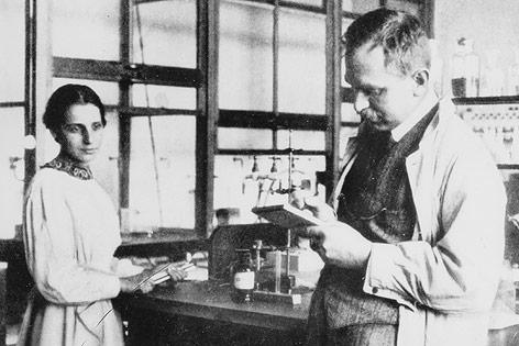 Lise Meitner und Otto Hahn, 1913