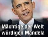 US-Präsident Barack Obama bei seiner Rede